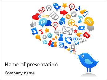 Twitter Bird Plantillas de Presentaciones PowerPoint