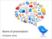 Twitter Bird PowerPoint presentationsmallar