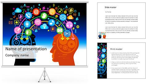 La comunicación vía red social Plantillas de Presentaciones PowerPoint