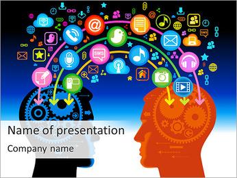 Kommunikation via sociala Net PowerPoint presentationsmallar
