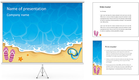 Summer At Beach PowerPoint Template Backgrounds ID 0000004053 – Summer Powerpoint Template
