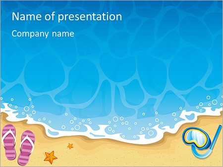 Summer at beach powerpoint template backgrounds id 0000004053 summer at beach powerpoint templates toneelgroepblik Choice Image