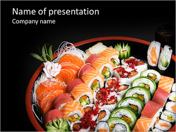 Set Of Sushi PowerPoint Template