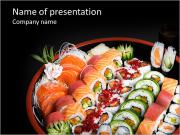 Set Of Sushi PowerPoint Templates