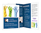 Colored Rubber Gloves Brochure Templates