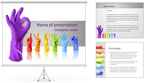 Цветные темы для презентаций