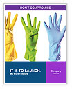 Colored Rubber Gloves Word Templates