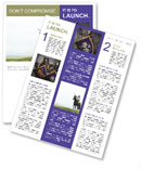 Knight On The Horse Newsletter Template
