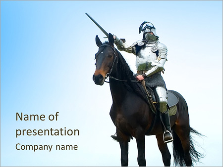 Knight on the horse powerpoint template backgrounds id 0000004069 knight on the horse powerpoint template toneelgroepblik Choice Image