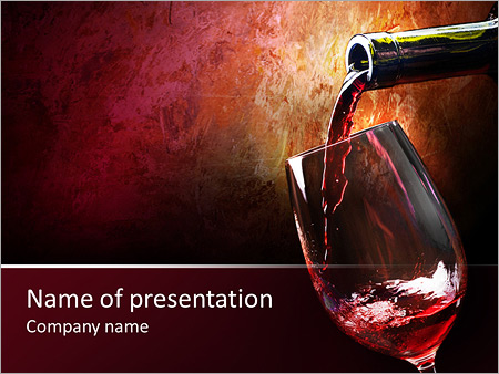 pouring wine powerpoint template backgrounds google slides id