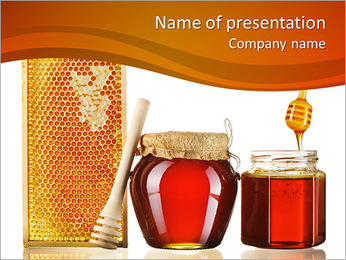 Honey Is Good For Health PowerPoint Template