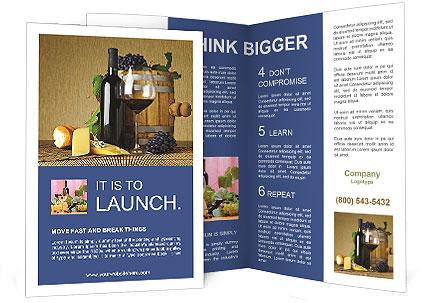wine brochure template - aromatic red wine brochure template design id 0000004085