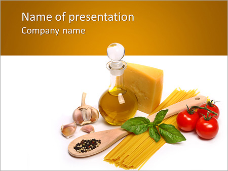 italian traditional pasta powerpoint template & backgrounds id, Modern powerpoint