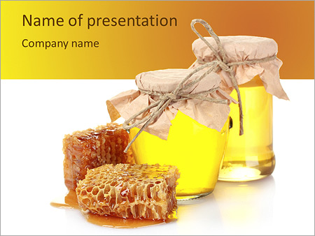 Honey Bee Powerpoint Template Backgrounds Google Slides Id