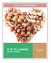 Heart Made Of Nuts Word Templates