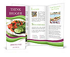 Cucumber And Tomato Brochure Templates