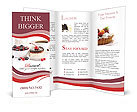 Cake With Fresh Berries Brochure Templates