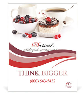 Cake With Fresh Berries Poster Template & Design ID ...