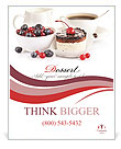 Cake With Fresh Berries Poster Template