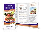 Basket With Vegetables Brochure Template