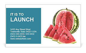Juicy Watermelon Business Card Template