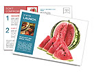 Juicy Watermelon Postcard Templates