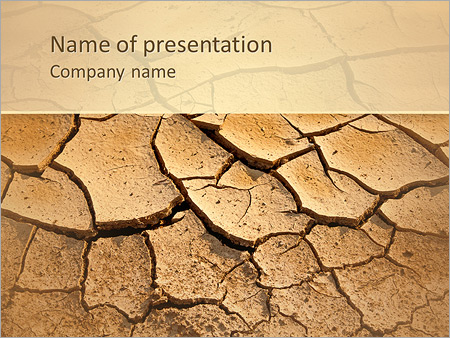 Dried soil powerpoint template backgrounds id 0000004103 dried soil powerpoint templates toneelgroepblik