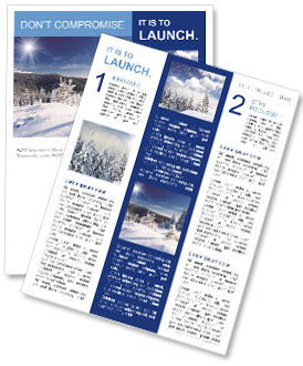 Winter Nature Newsletter Template Design Id 0000004104