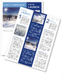 Winter Nature Newsletter Templates