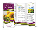 Sunflower Field Brochure Templates