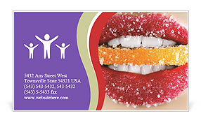 Sugar Candy Business Card Template