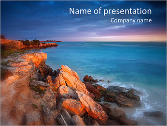 Amazing Rock View PowerPoint Template