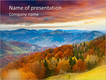 Autumn Scenery PowerPoint Template