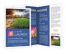 Skyscrapers And Dry Soil Brochure Templates