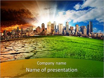Небоскребы и сухой почвы Шаблоны презентаций PowerPoint