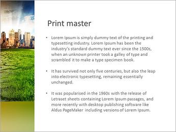 Rascacielos y Suelo Seco Plantillas de Presentaciones PowerPoint