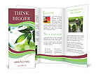 Green Plant In Sun Light Brochure Templates