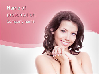 Young Model PowerPoint Template