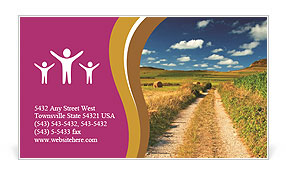 Countryside Road Business Card Templates