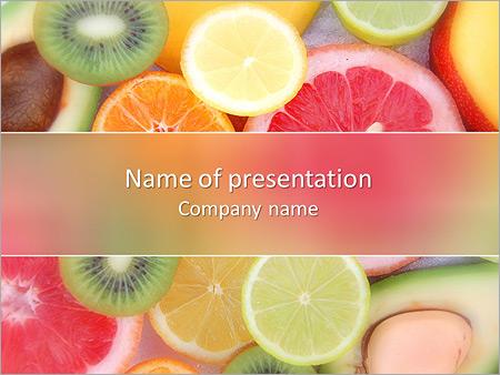 Les tranches de fruits Modèles des présentations  PowerPoint