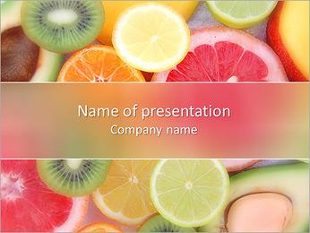 Les tranches de fruits Modèles des présentations  PowerPoint - Diapositives 1