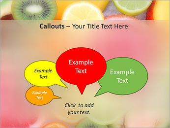 Les tranches de fruits Modèles des présentations  PowerPoint - Diapositives 53