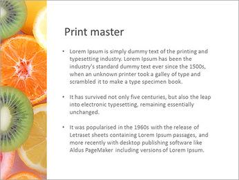 Les tranches de fruits Modèles des présentations  PowerPoint - Diapositives 76