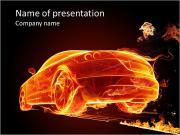 Fire Car PowerPoint Templates