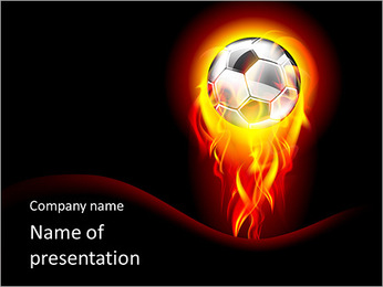 Ball In Fire PowerPoint Template