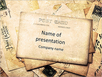 Retro Post Card PowerPoint Template