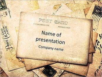 Retro Postkarte PowerPoint-Vorlagen