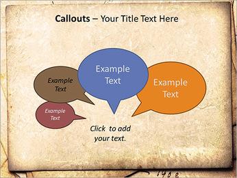 Postal Retro Plantillas de Presentaciones PowerPoint - Diapositiva 53