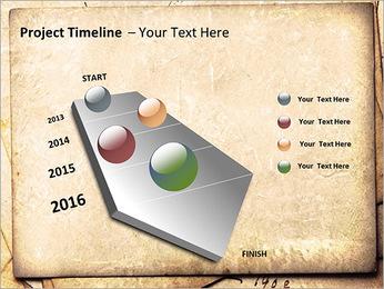 Postal Retro Plantillas de Presentaciones PowerPoint - Diapositiva 6