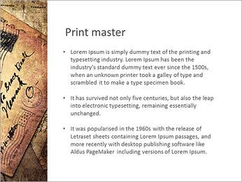 Rétro carte postale Modèles des présentations  PowerPoint